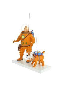 Fariboles Figurine Moulinsart Tintin et Milou Cosmonaute sur la Lune 44023 (2019