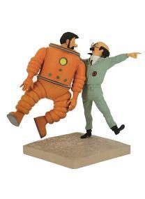 Fariboles Figurine Moulinsart Tintin, Haddock et Tournesol Lune 44024 (2019)