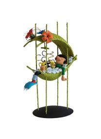Fariboles Figurine Gaston Lagaffe Résine – Gaston dans Le nid des bébés Marsupilami – Affiche Offerte Exclusivité Collector BD – 31 cm