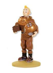 Editions Atlas Tintin en scaphandre Marin - Figurine- Le trésor de Rackham Le Rouge - C.O Hergé Moulinsart -