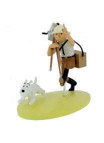 Moulinsart Figurine de Collection Tintin au Congo colorisé, cinéaste 42177 (2019)