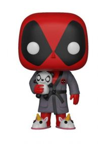 Funko- Pop Bobble: Marvel Playtime: Deadpool in Robe, 31118, Multicolore