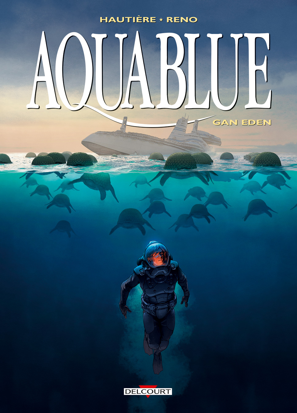 Couverture BD Aquablue T15, Gan Eden