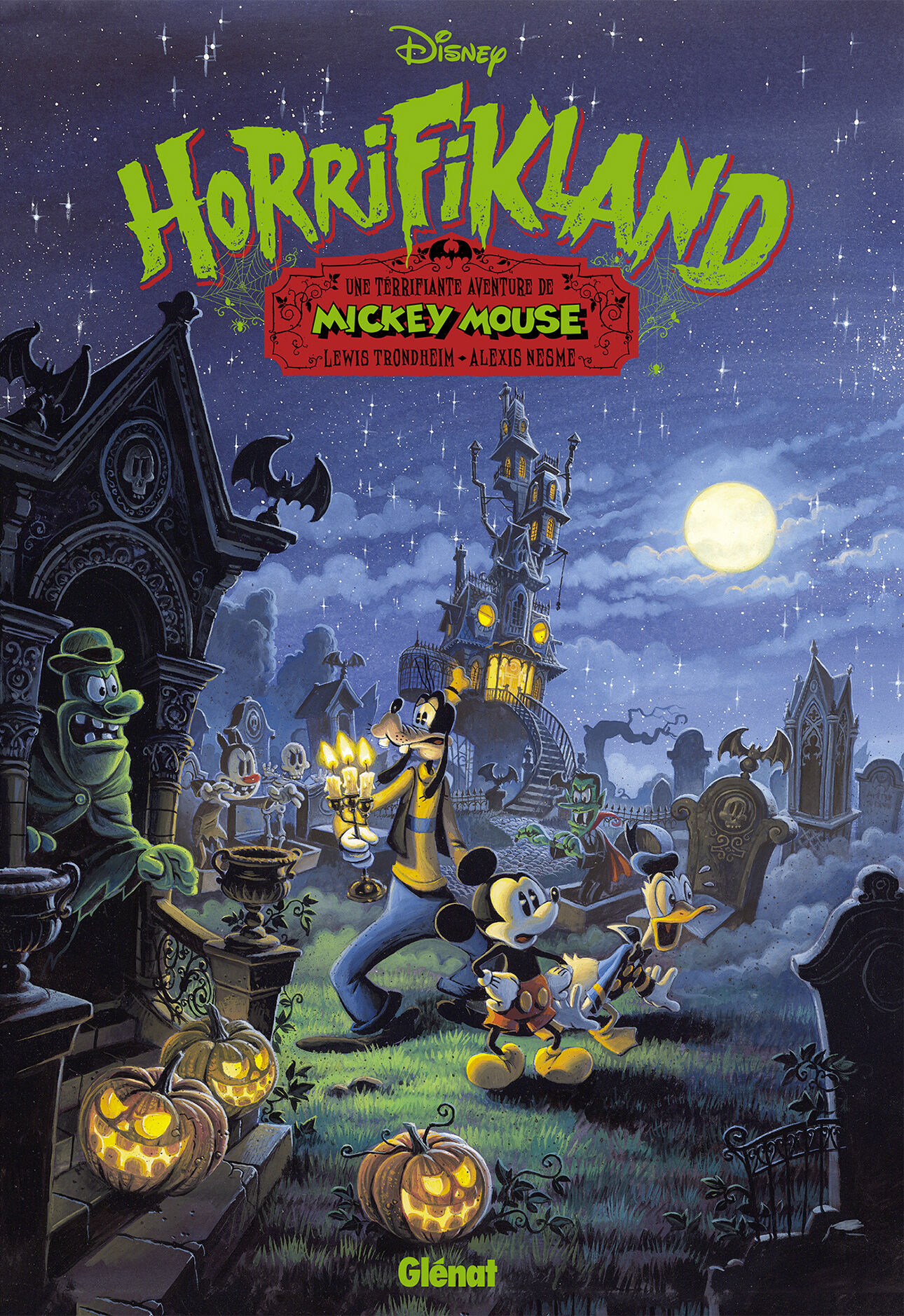 Couverture BD Horrifikland, Une terrifiante aventure de Mickey Mouse