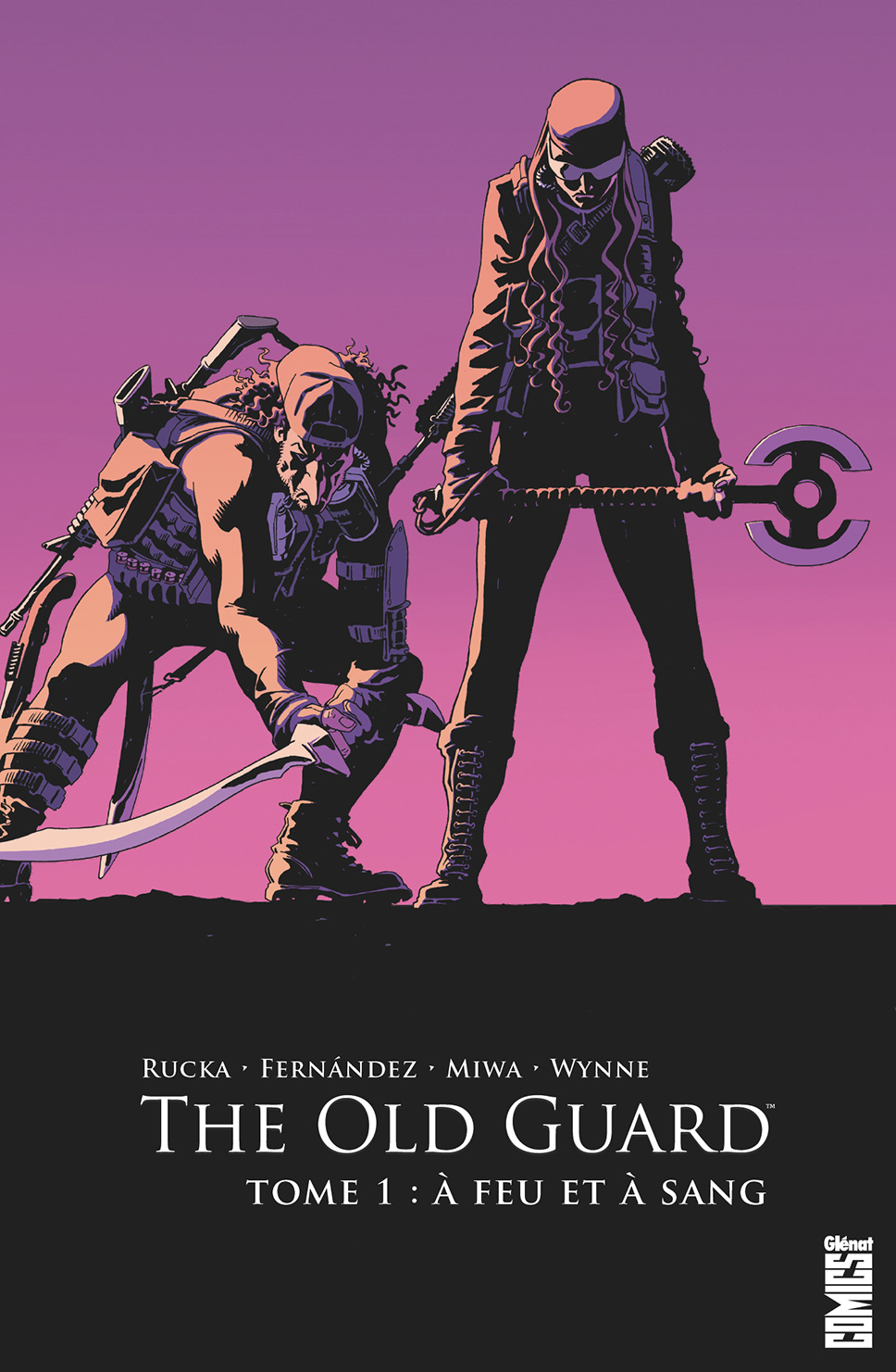 Couverture BD The Old Guard, T1 : A feu et à sang